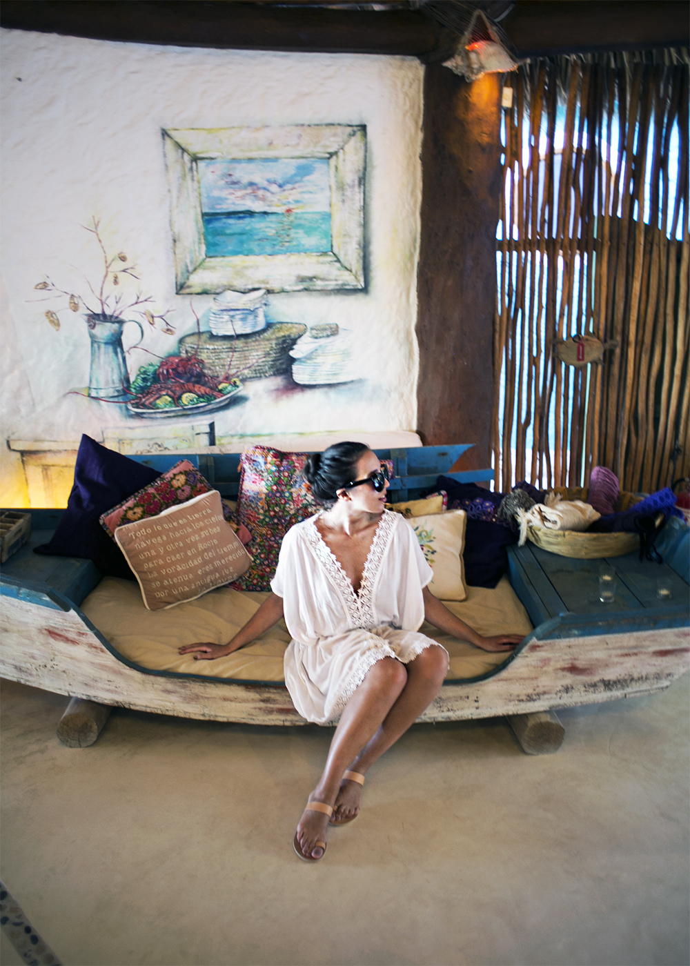 1. sania claus demina isla de holbox mexico island casa las tortugas boutique hotel make way dress ancient greek sandals ee sunglasses_1