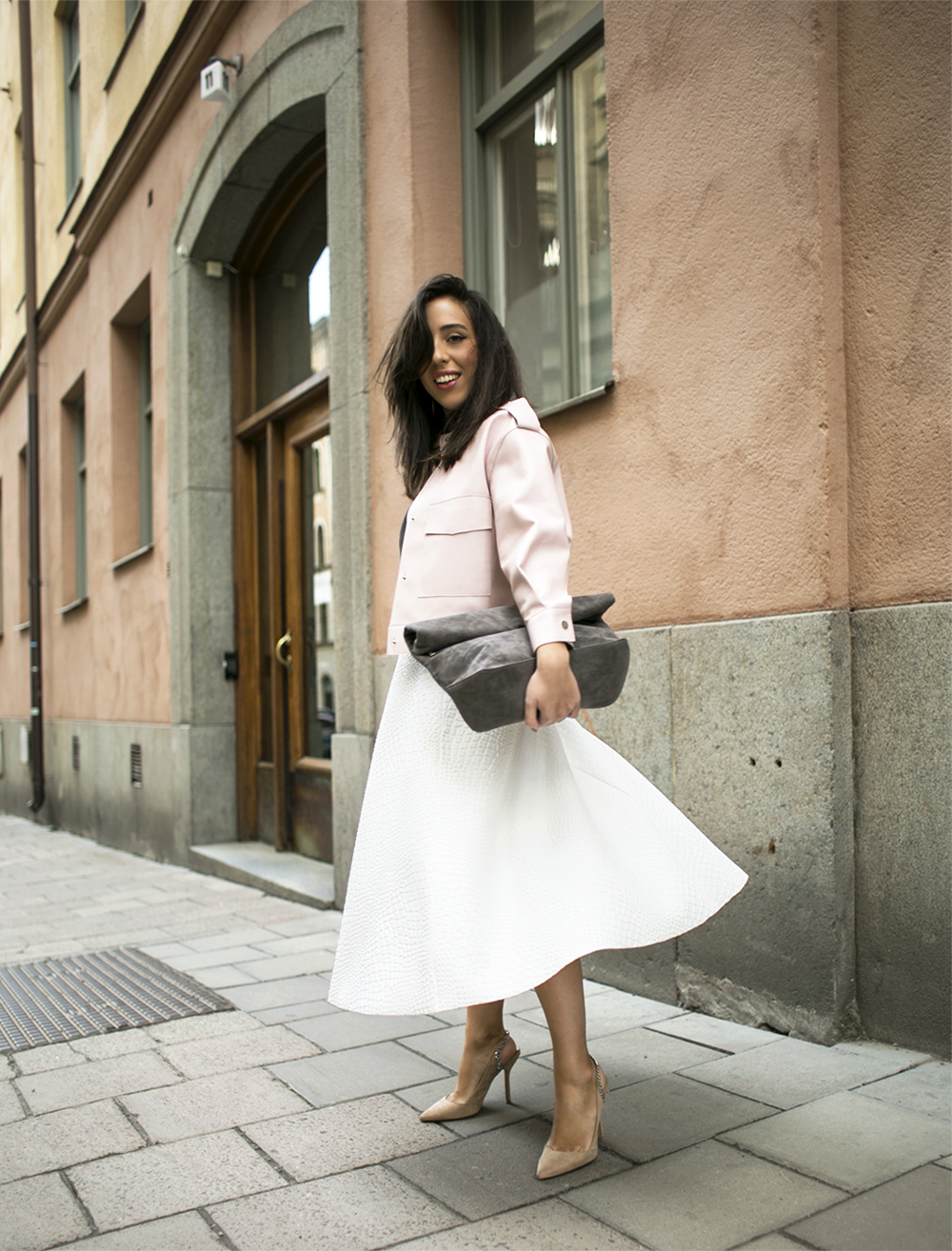 sania claus demina outit ginamyway 2015 gina tricot skirt jacket bag zara shoes_2