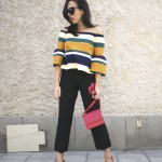 COLORFUL STRIPED AND RED DETAILS