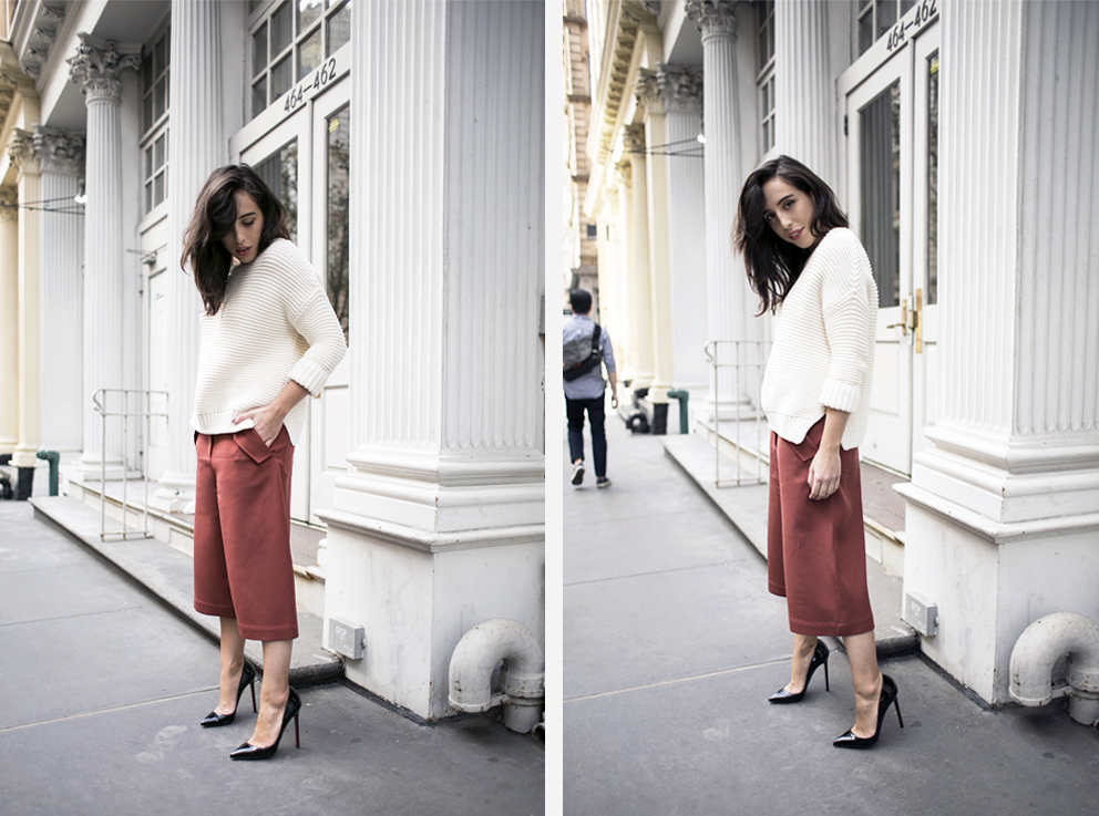2_sania-claus-demina-outfit-new-york-city-acne-studio-culottes-christian-louboutin-pigalle-120-mm-shoes-gina-tricot-sweater-white-soho-2015_16_