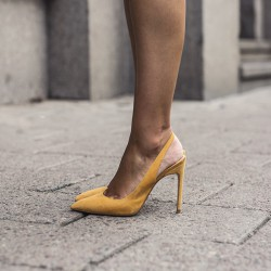 My yellow slingback pumps