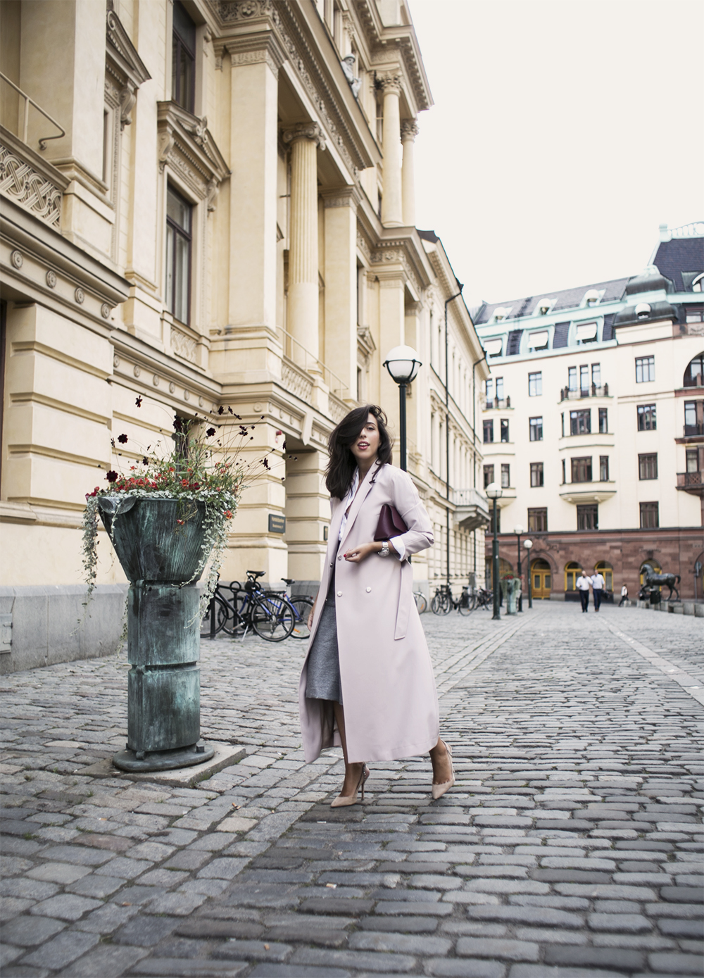 sania claus demina outfit fashion week stockholm day 3 filippa k weekday hanro calvin klein