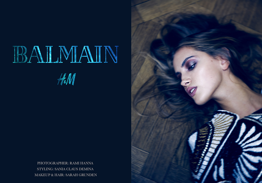 balmain x hm hmbalmanation 2015 collaboration editorial stylist sania claus demina photographer rami hanna hair and make up sarah grunden model maja elmstrom erik ahlmark for INSPO_1