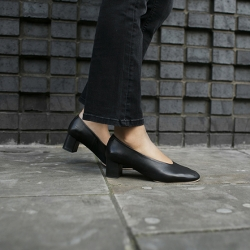 block heel ballerina pumps