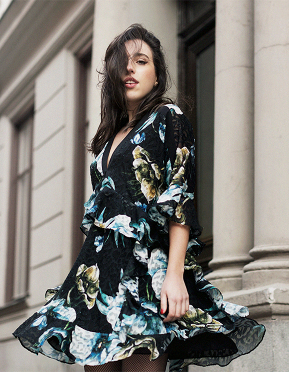 sania claus demina river island studio floral dress_1