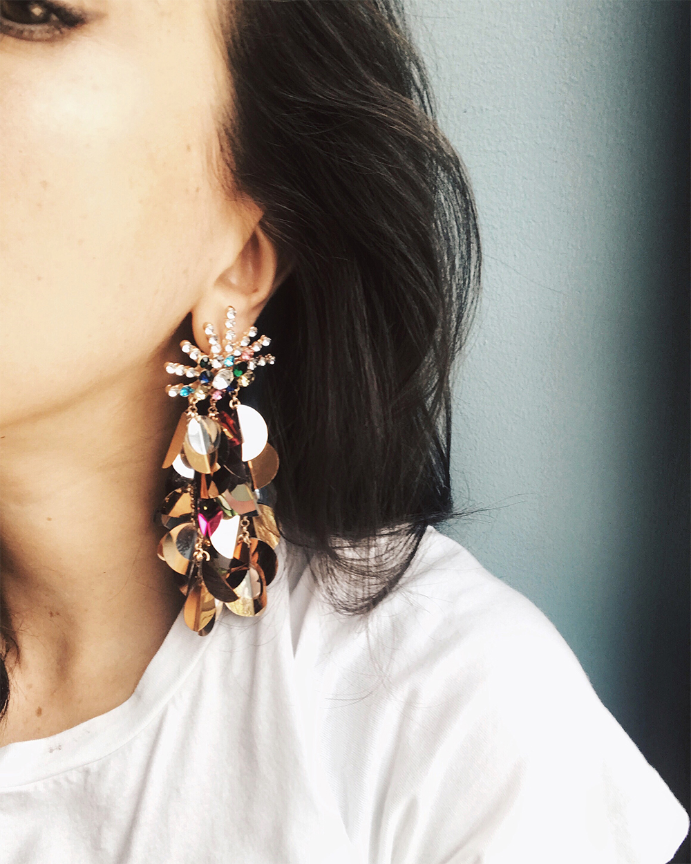 sania claus demina bling earrings zara aw17