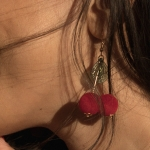 sania claus demina cherry earring header
