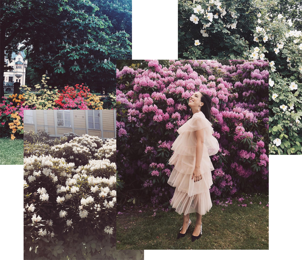 sania claus demina 2017 year in review_18_summer in stockholm flowers all over djurgarden lindex dress