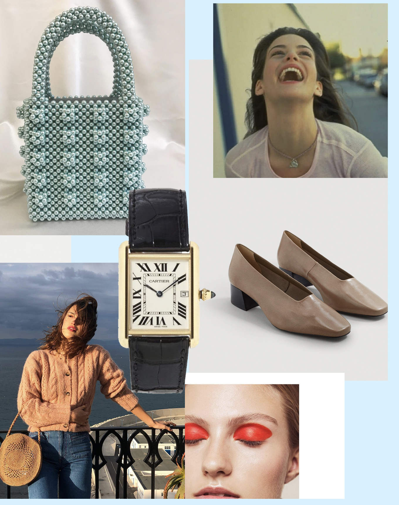 sania claus demina inspiration 2018 cartier jeanne damas shrimps pearl bag mango shoes kofta