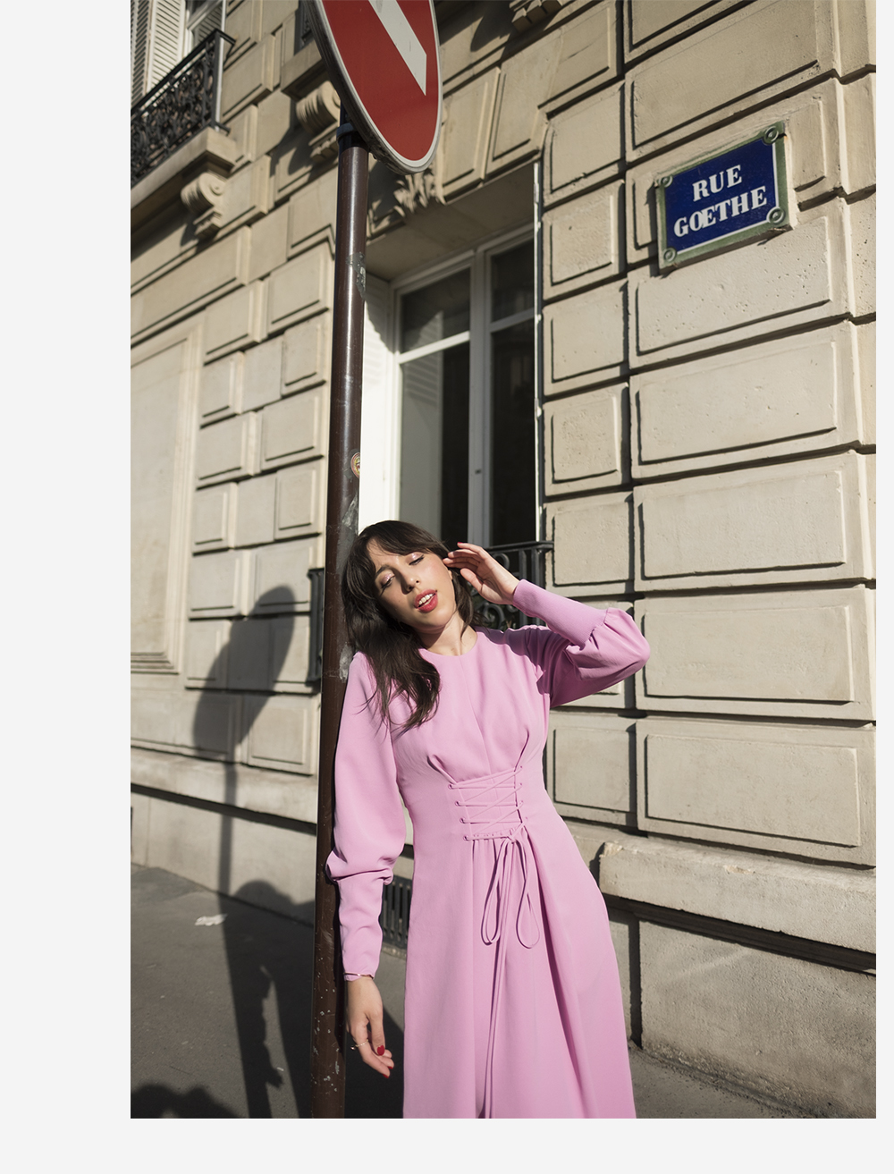 sania claus demina tibi pink dress ss18 stine goya heart shoes sandals suede paris april spring_2b