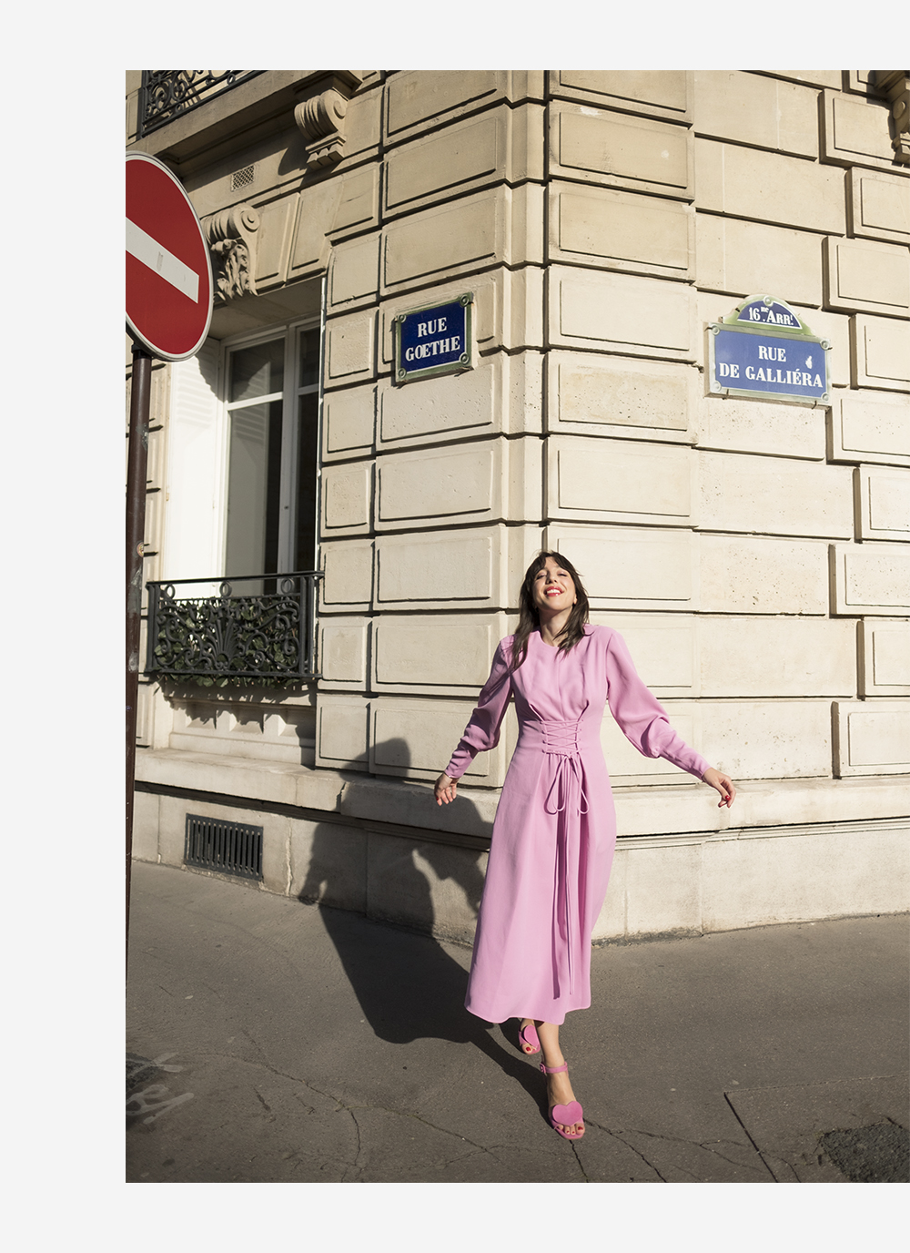 sania claus demina tibi pink dress ss18 stine goya heart shoes sandals suede paris april spring_5b