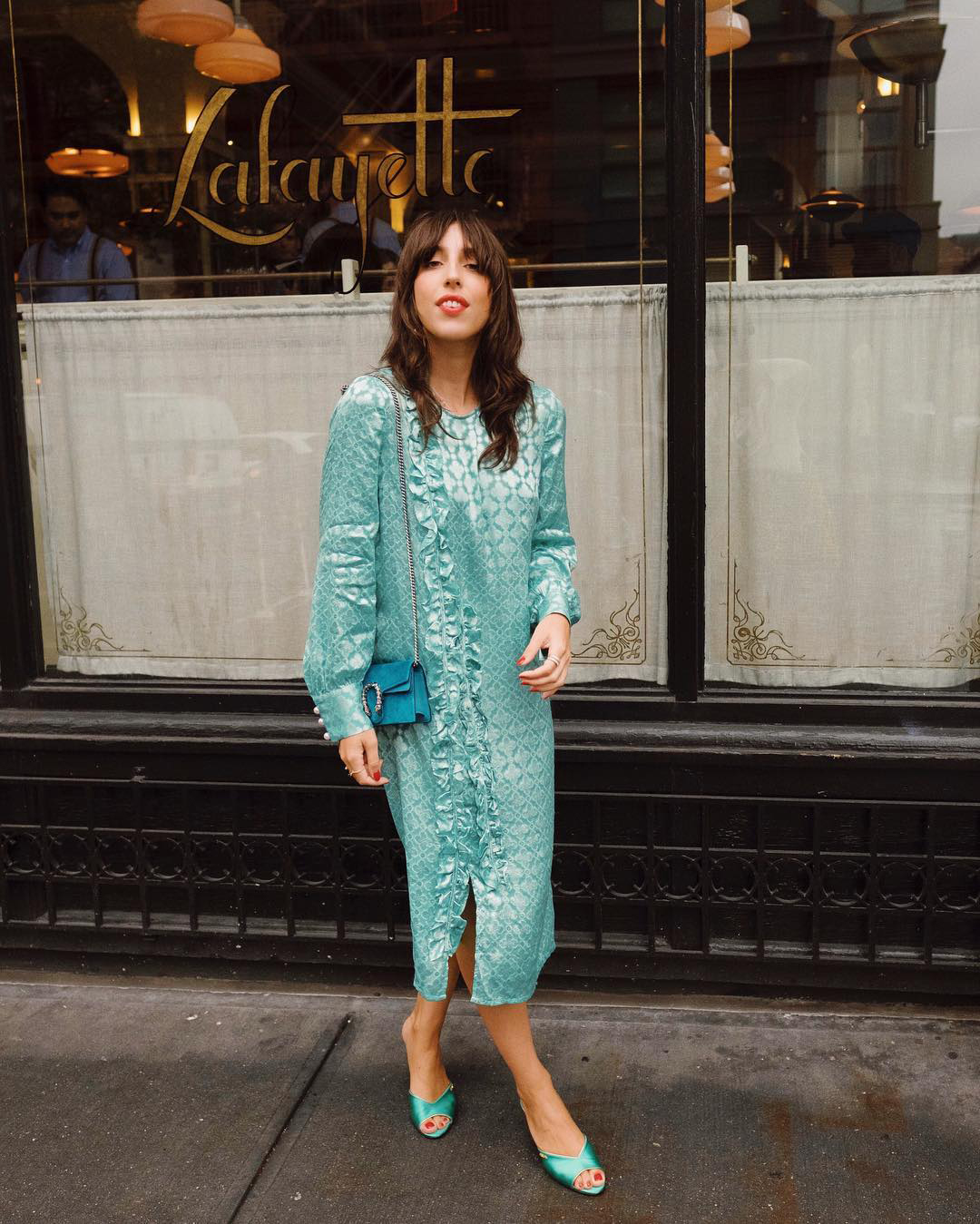 sania claus demina baum und pferdgarten dress gucci velvet turquoise bag new york prada shoes_2
